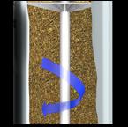 KDF-85 eliminates iron and hydrogen sulfide.